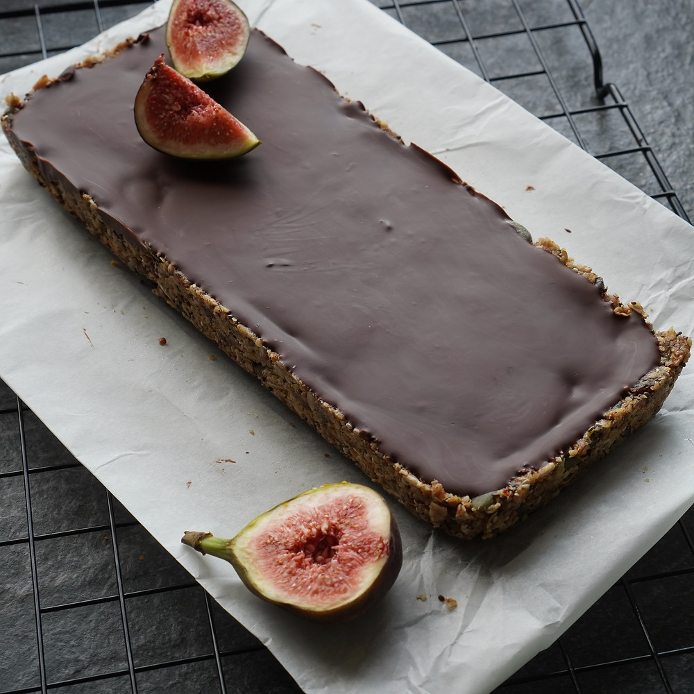 Chocolate, Fig & Seed Slices