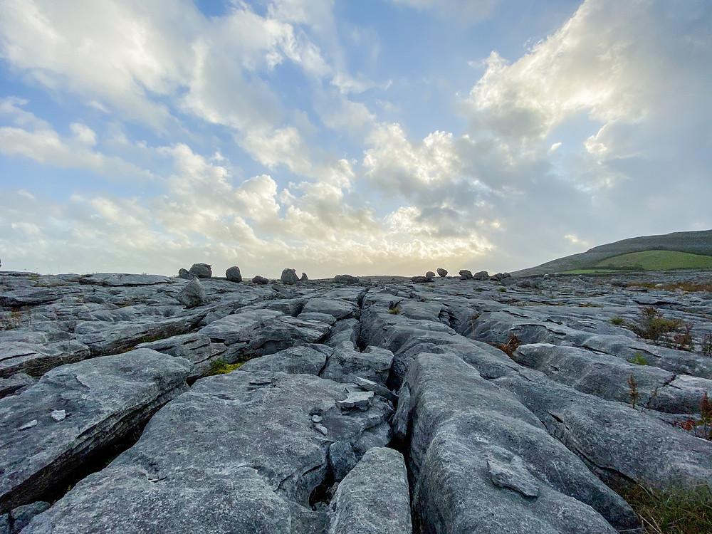 Karst limestone furrows