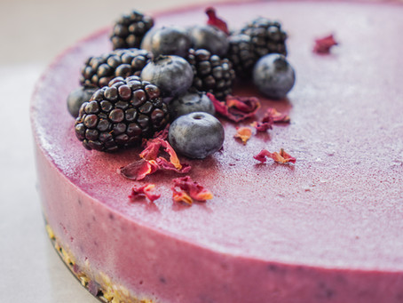 Sugar Free Vegan Berry Cheesecake