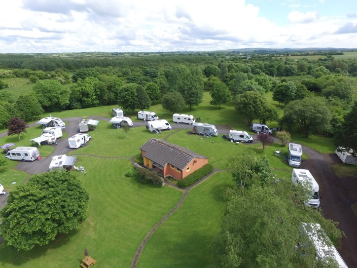 Carrowkeel Camping & Caravan Park from the air