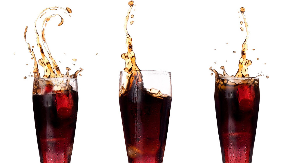 3 glasses of cola
