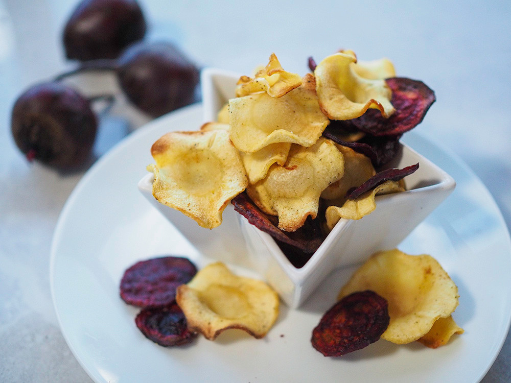 Parsnip and beetroot crisps