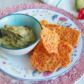 Parmesan Crisps with Guacamole