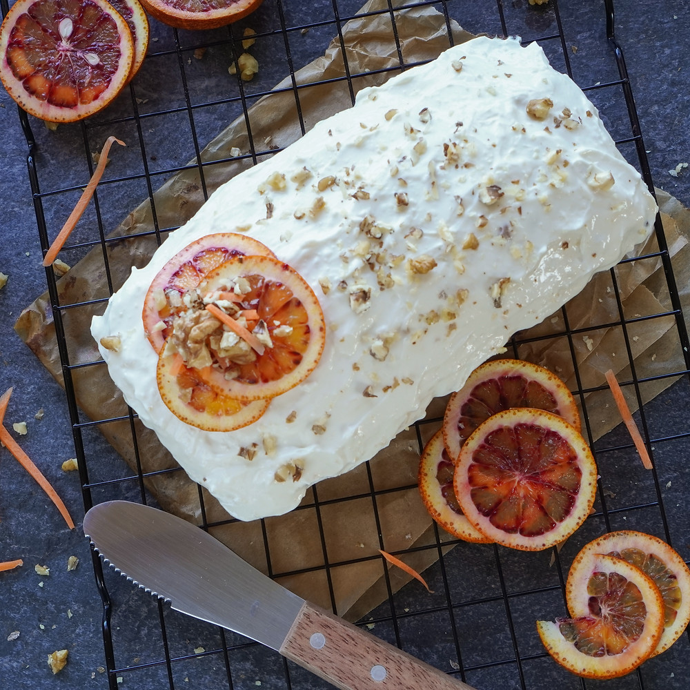 Spiced Carrot & Orange Cake with Ginger & Mascarpone Frosting
