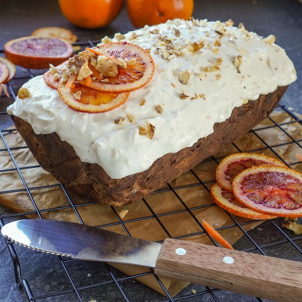 Spiced Carrot & Orange Cake with Ginger & Mascarpone Frosting