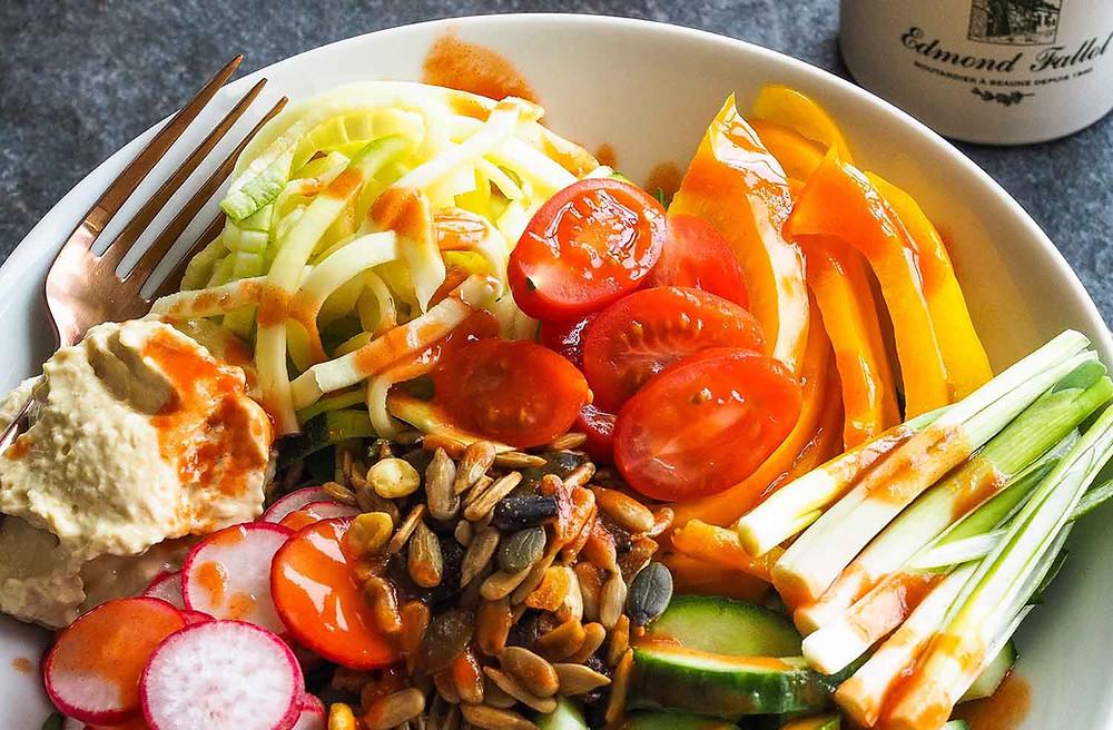 a buddha bowl salad