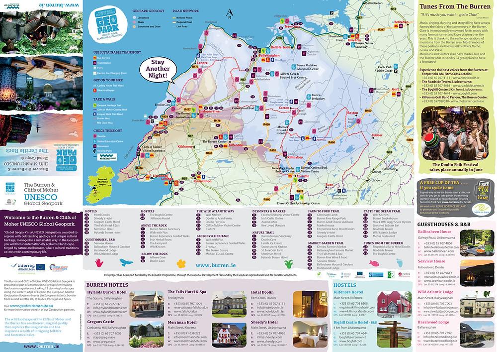 The Burren Geopark Information Leaflet