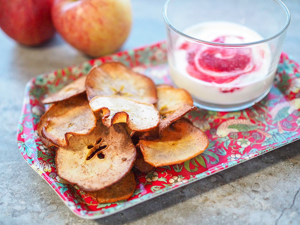 Apple and pear crisps