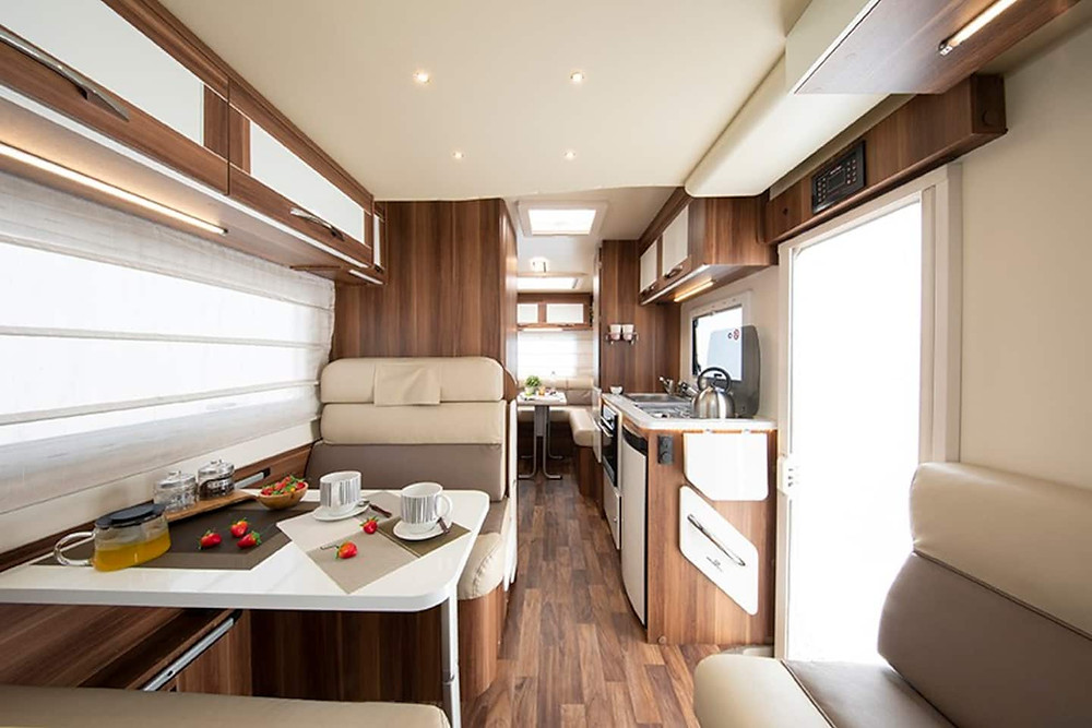 Great Escape Camper Hire Roller Team 747 Interior