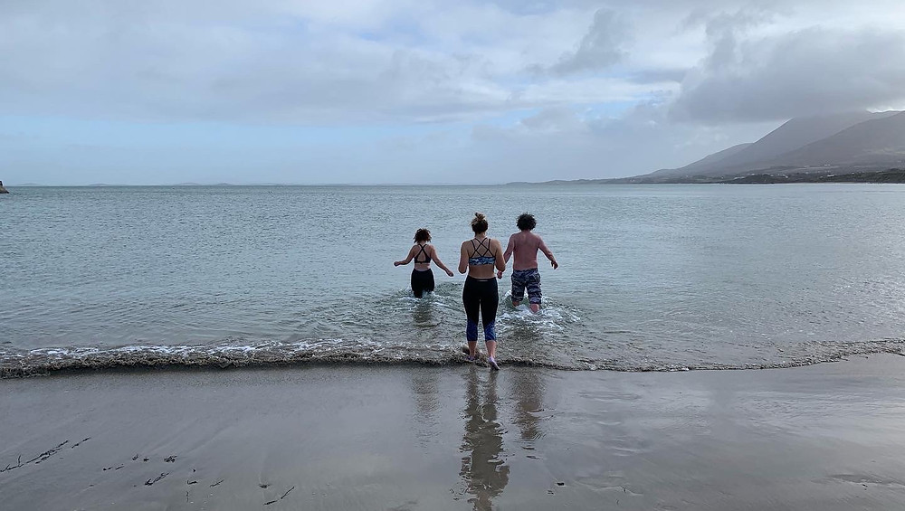 Cold water swimming in the Atlantic off the west coast of Ireland