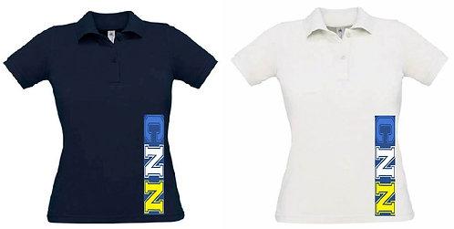 Polo - Femme - Bleu ou Blanc
