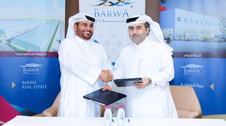 Barwa Real Estate Group has announced the signing of a leasing contract for its Mustawdaat project