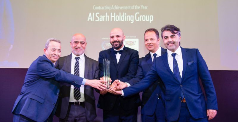 Alsarh Holding Group claimed the award for construction company of the year 2017