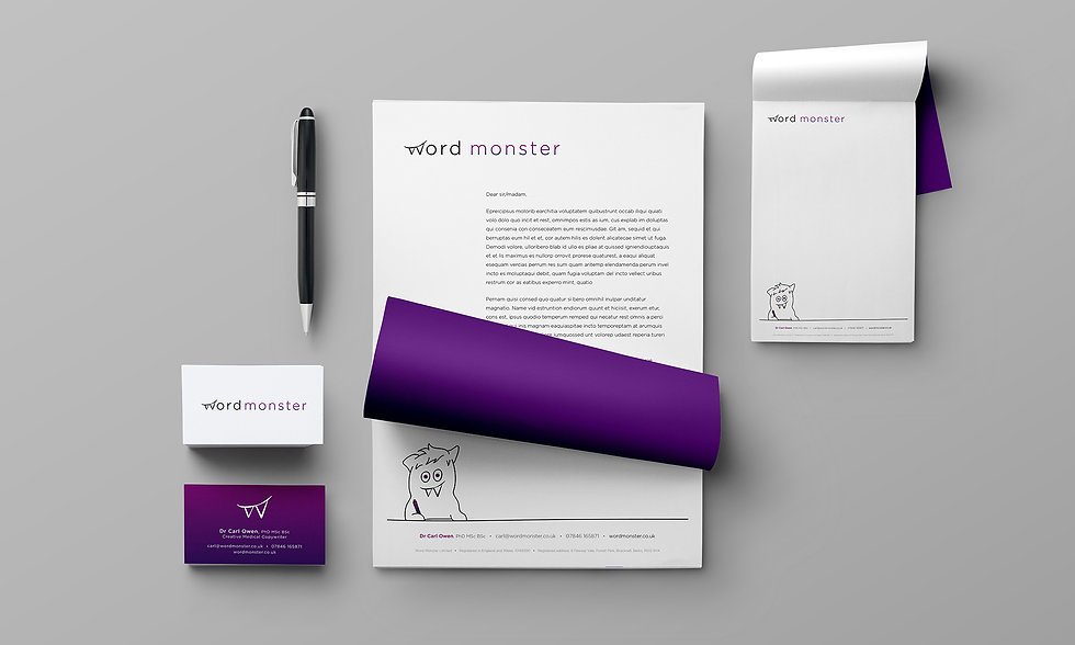 Sarah Pritchard_Word Monster branding_St