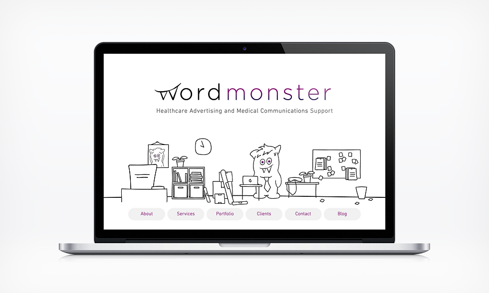 Home Word Monster Website UI designer barnsley