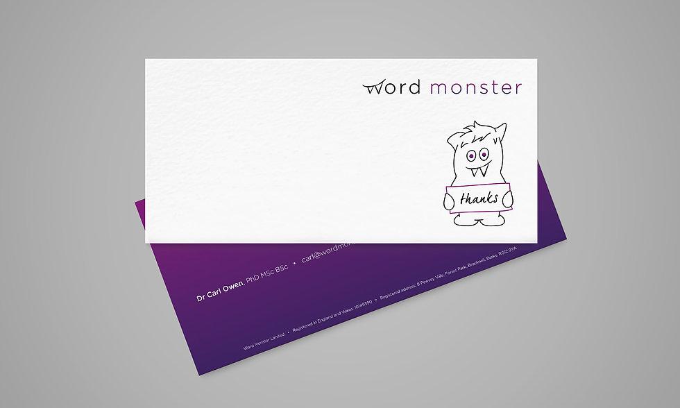 Sarah Pritchard_Word Monster branding_Co