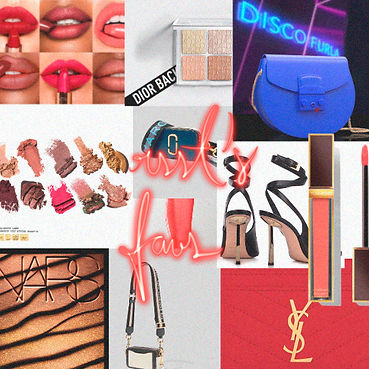 the best bagas, lipsticks, shoes, eyeshadow