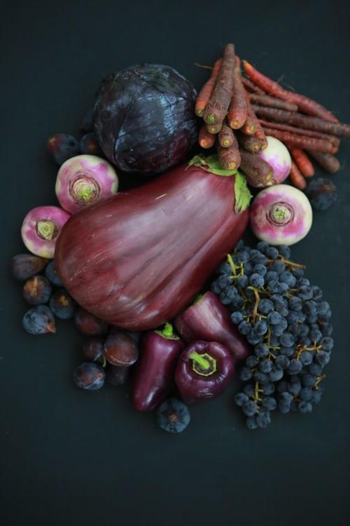 blue/purple plant based foods