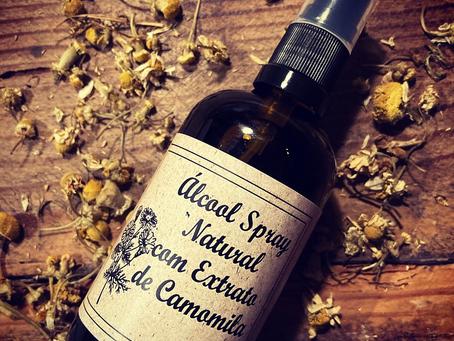 Álcool Spray com Extracto de Camomila