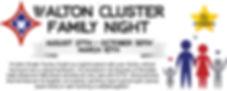 walton cluster family night october webs