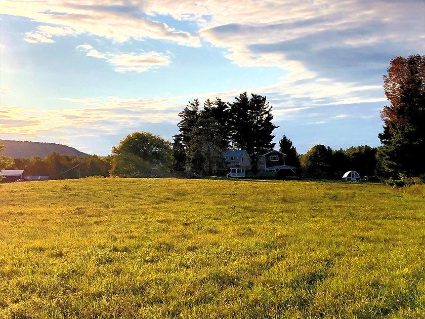 Summer Sunset on the Farm