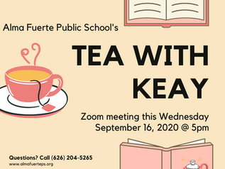 Tea with KEAY! Don't Miss Out...