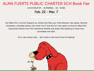 Alma Fuerte Public School's 2021 Covid-friendly Book Fair!