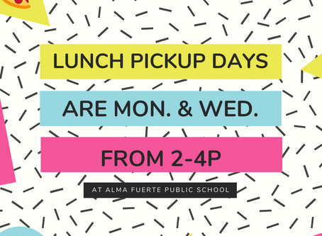 AFPS Friendly Reminder: Breakfast & Lunch Pickup days and Class Packet info!