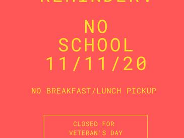 No School 11-11-2020!