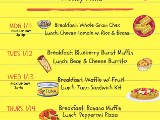 Don't forget to grab a tasty breakfast and lunch!