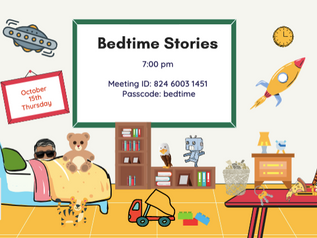 Bedtime Stories! Tonight at 7p!