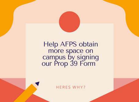 Help AFPS obtain more space on campus!