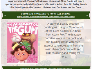 VROMAN'S & ALMA FUERTE PUBLIC SCHOOL PRESENT: MEET THE AUTHOR, ADAM REX!