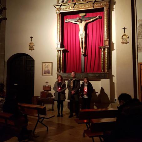 Vía Crucis en el Monasterio de León