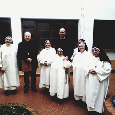 El Sr. Obispo de León y el Sr. Alcalde visitan a las Concepcionistas Franciscanas de León