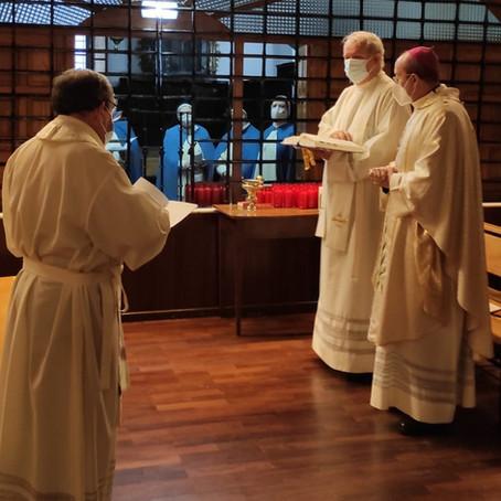 El día de la Vida Consagrada celebrada con el Señor Obispo