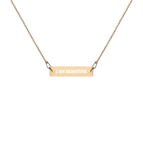 I am Beautiful - Classic 24k Gold Coating Bar Chain Necklace