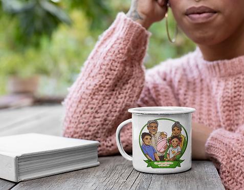 Palmer Family Portrait Enamel Mug