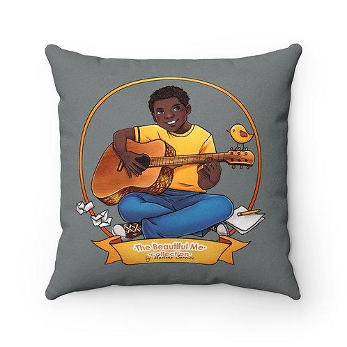 Music Daniel Faux Suede Square Pillow