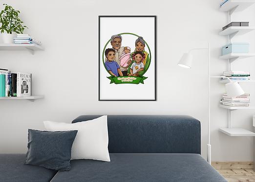 Palmer Family - Framed Wall Art