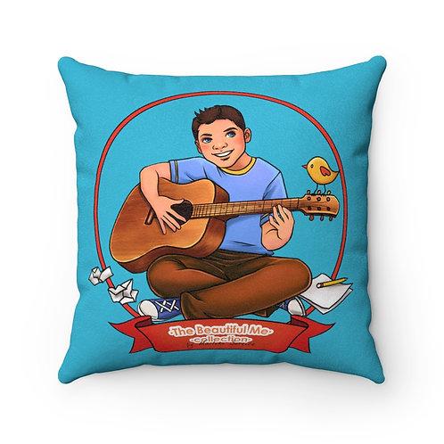 Music Alfie Faux Suede Square Pillow
