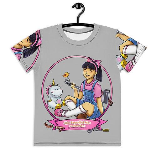 Lisa All Over T-Shirt - Grey