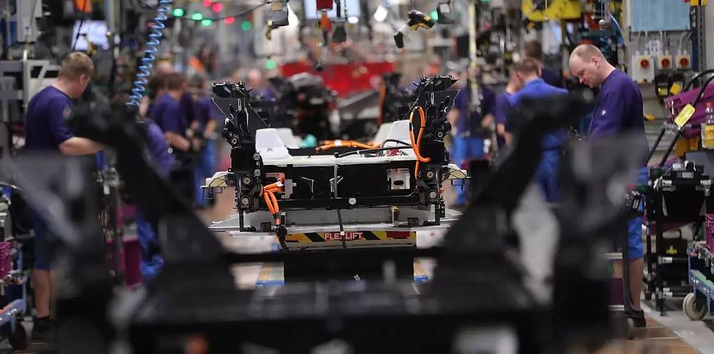 Usine fabrication de batterie pour voiture électrique