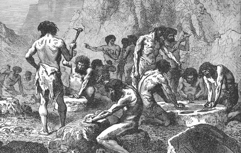l'exemple de l'homme préhistorique sur-représenté dans les scènes de construction d'outils au détriment de sa compagne est un biais de la paléontologie classique assez grotesque, selon Pascale Picq