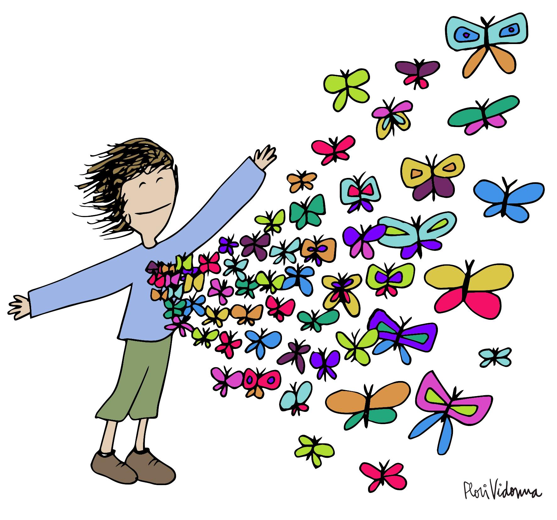 Me vuelan mariposas