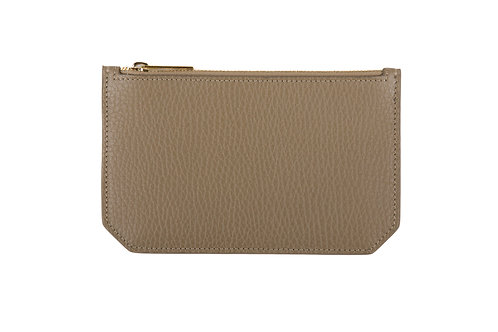 """Tuesday"" purse - Grain leather light kaki"