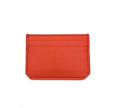 """Weekend"" mini card wallet - Soft leather sapphire orange"