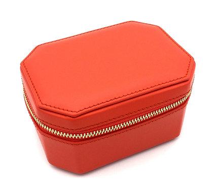 """Friday"" WOMEN jewel box - Soft leather sapphire orange"