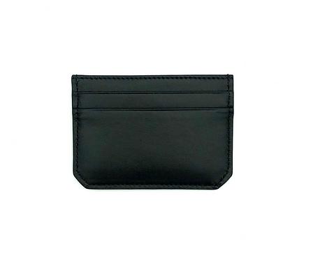 "Mini porte-cartes ""Weekend"" - Cuir lisse noir"