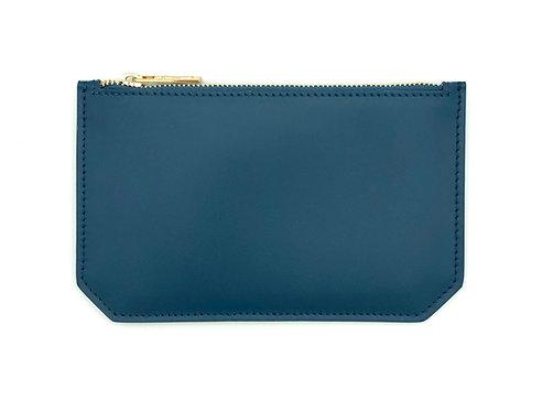 """Tuesday"" purse - Soft leather petrol blue"